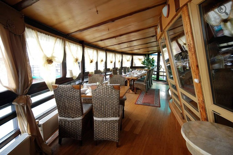 Riverside dining in the Serbian capital