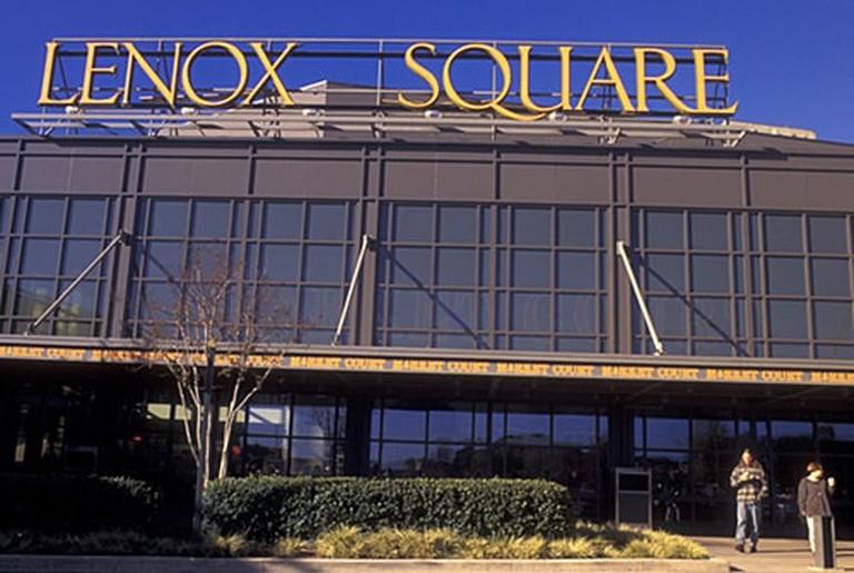 if1136 atlanta ga georgia buckhead entrance to lenox square shopping mall