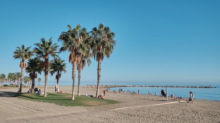 La Caleta beach. Malaga, Spain.