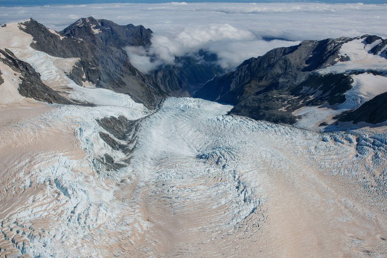 Glaciers in Mount Cook National Park, New Zealand
