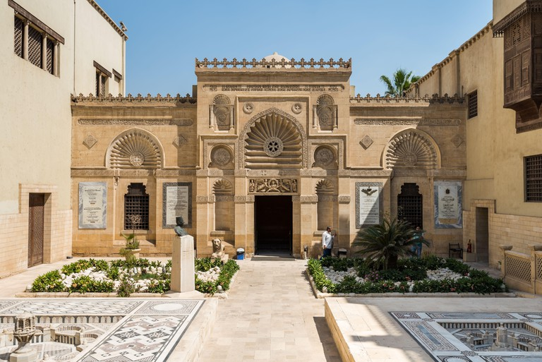 Building of Coptic Museum in Coptic Cairo, Egypt with the largest collection of Egyptian Christian artifacts in the world. Founded by Marcus Simaika i