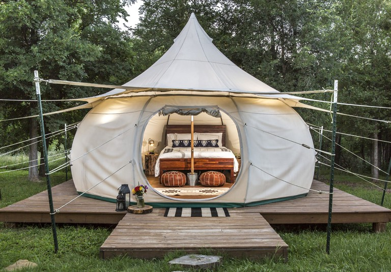 Glamp and commune with nature in a yurt at Green Acres