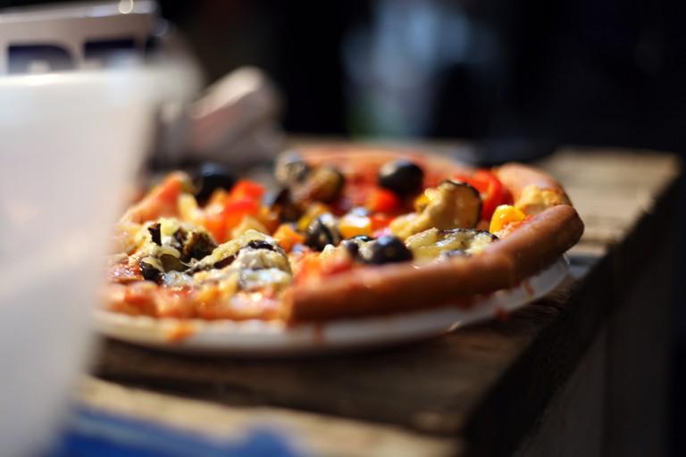 Tasty gourmet pizza