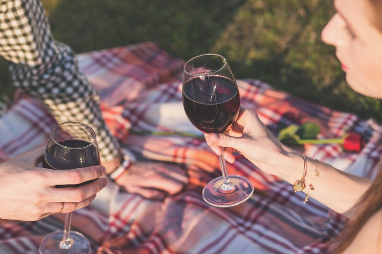 Romantic picnic for two