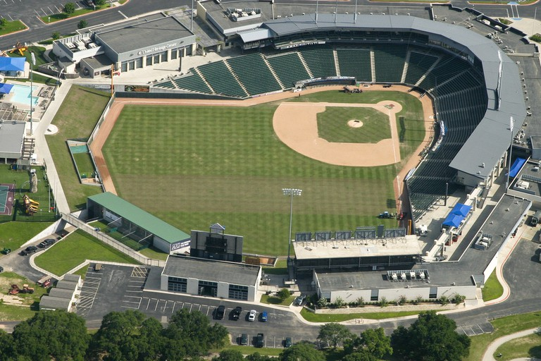 The Round Rock Express play at Dell Diamond