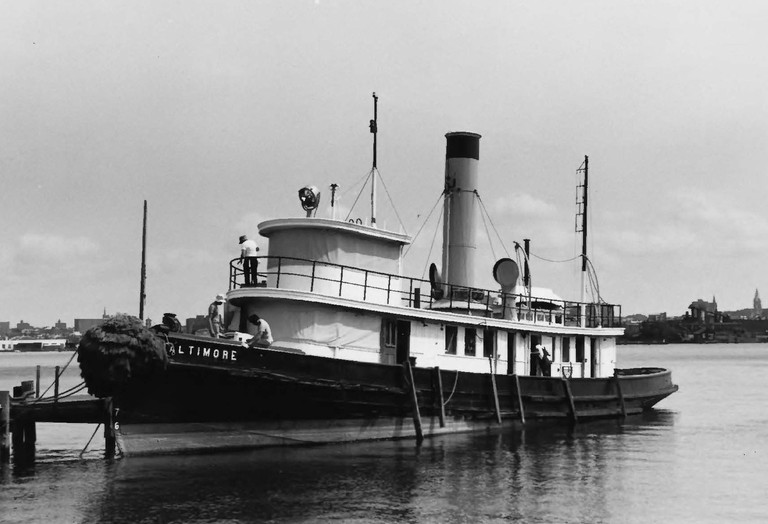 Baltimore Steam Tug, Historic Ships, Baltimore, Maryland, Black and White