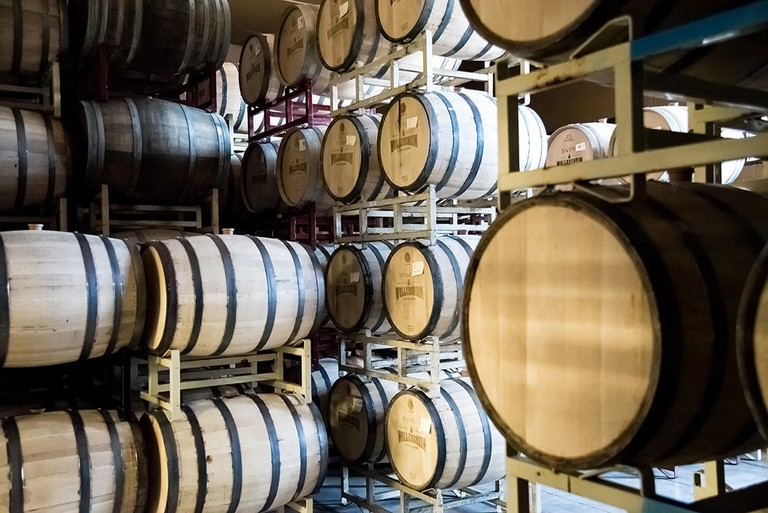 Wollersheim Distillery Barrel Room | © Courtesy of Wollersheim Distillery