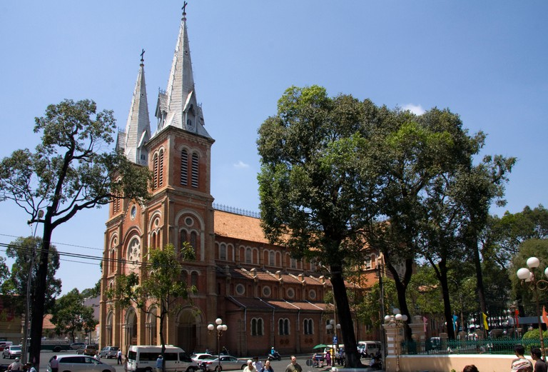 The Notre Dame Basilica (cathedral) in Saigon, (Ho Chi Minh City), Vietnam