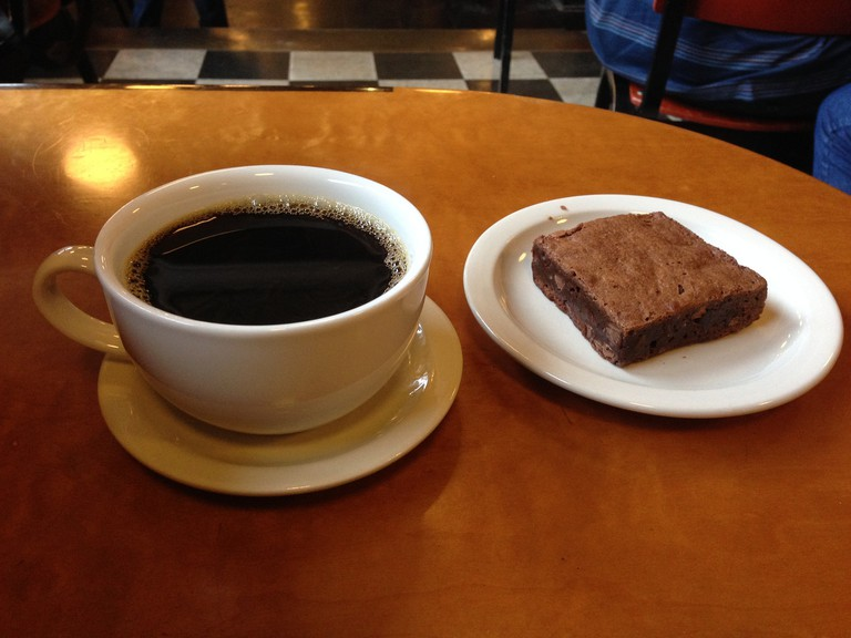 Coffee & a brownie