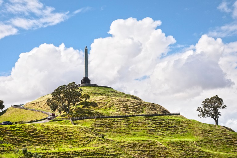 One Tree Hill, a famous landmark in Auckland, New Zealand.