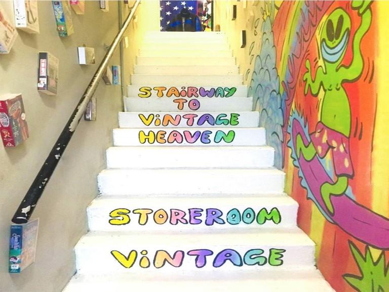 Stairs up to Storeroom Vintage