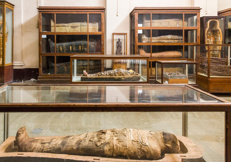mummy room, The Egyptian Museum of Antiquities
