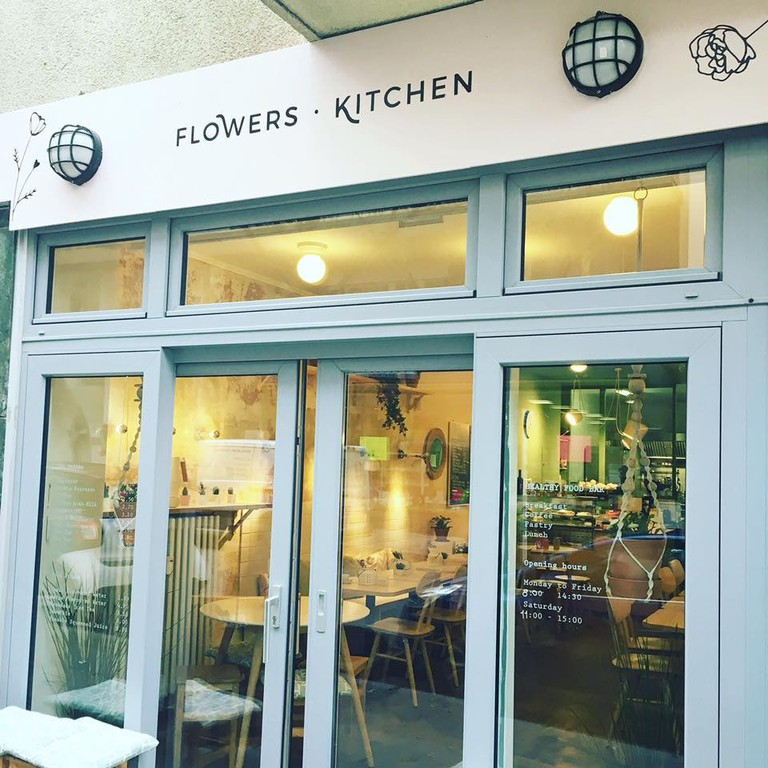 Flowers Kitchen is a cosy vegan diner near Luxembourg's central station