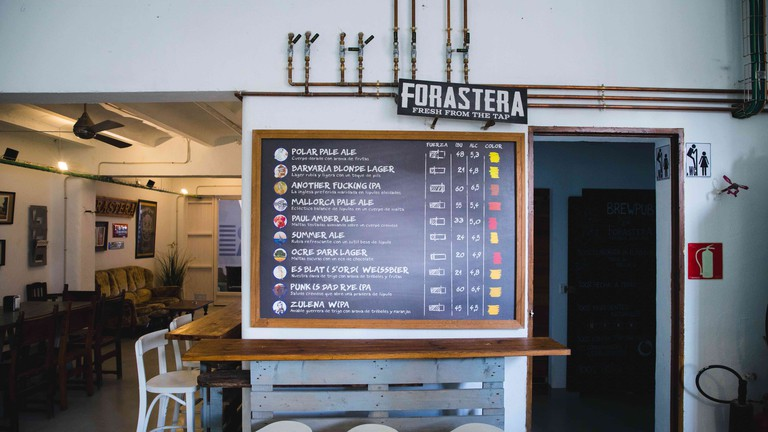 Forastera Taproom and Beer Menu