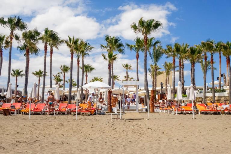 Nikki Beach Club, Elviria, new season, Marbella, Andalusia, Spain.