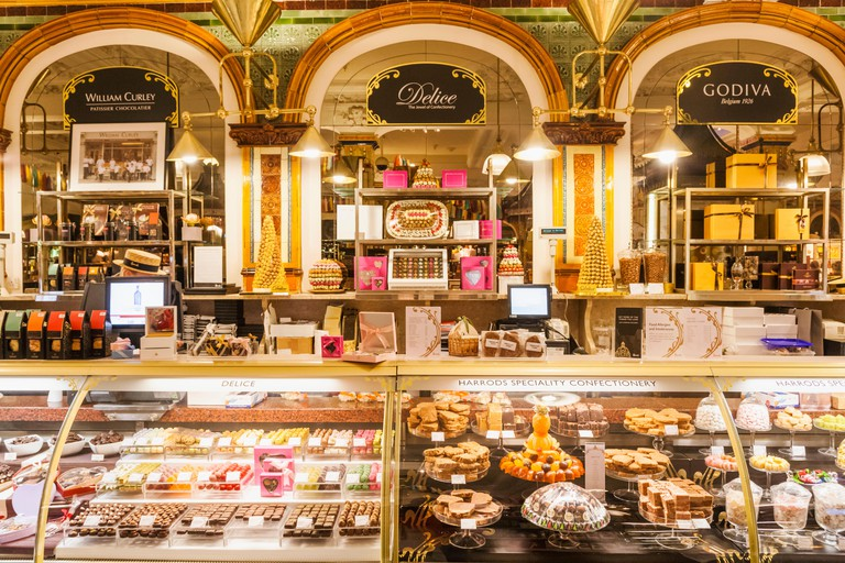 England,London,Knightsbridge,Harrods,Food Hall,Chocolate Counter