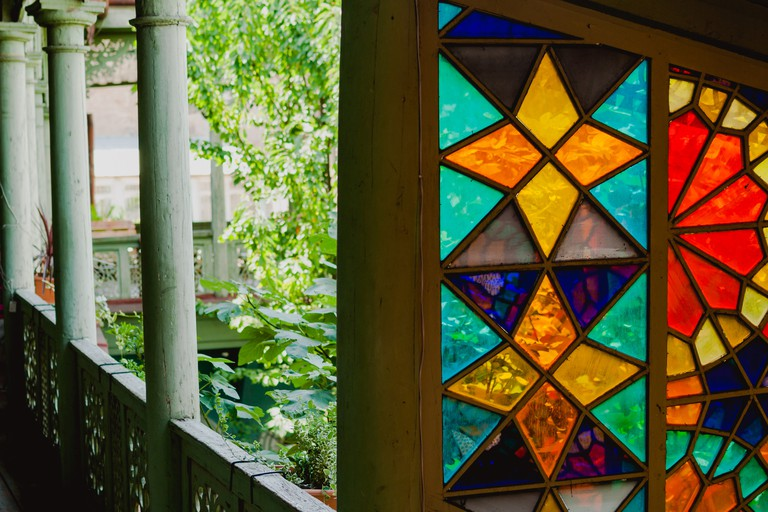 Dreamy colors of stained glass