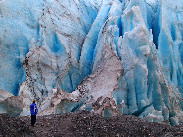 Stand within arms length of Exit Glacier