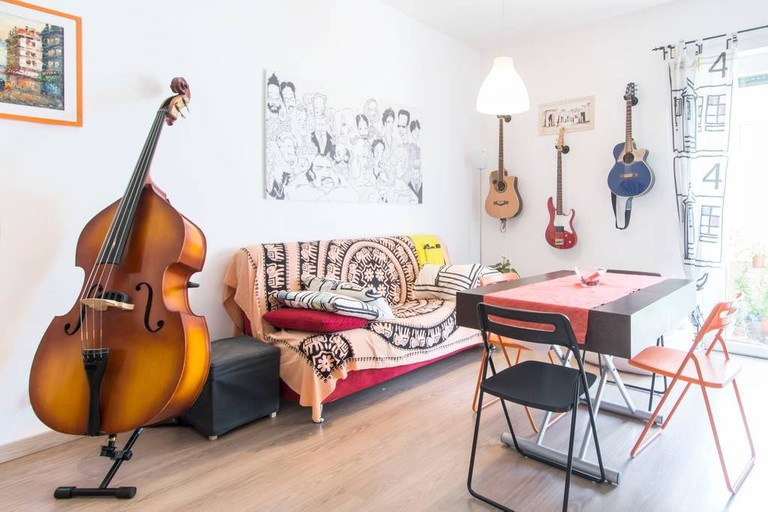 The living space at the House of Music