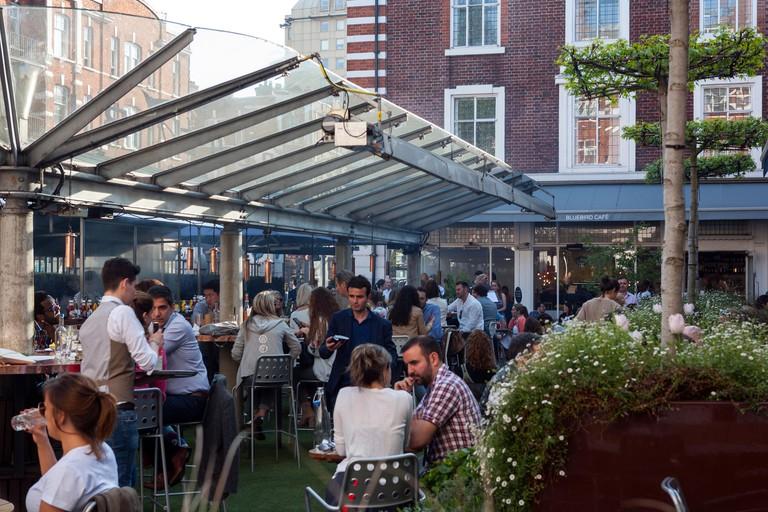 Bluebird Restaurant Courtyard, Kings Road, Chelsea, London