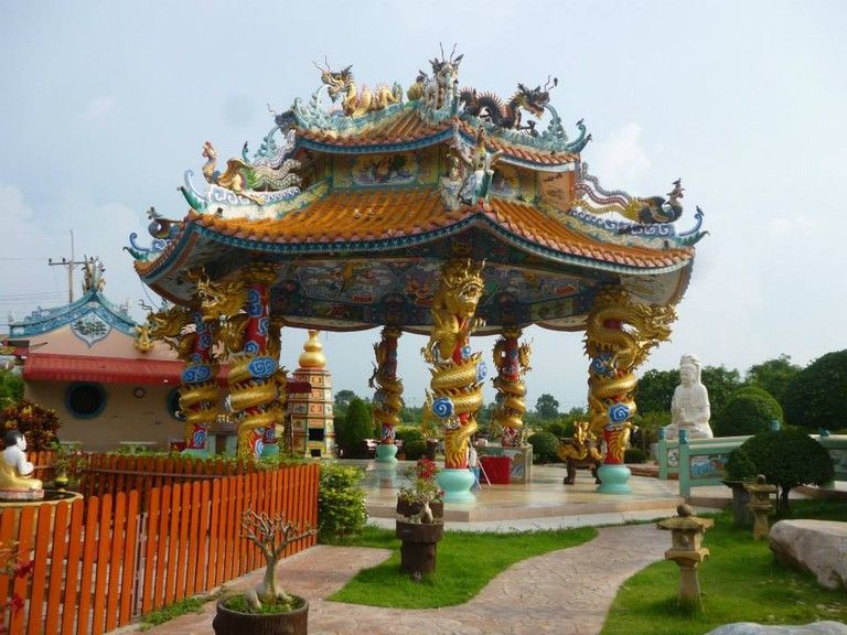 Colourful pavilion at Chao Mae Kuan-Im Park