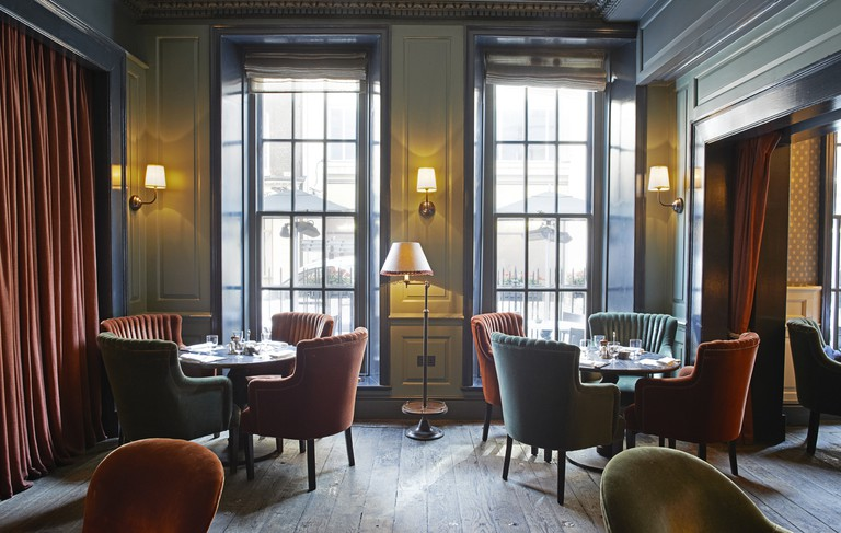 The interiors at Dean Street Townhouse ooze with sophistication