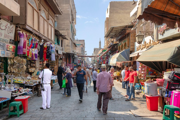 The Khan el Khalili souk in Cairo has been in business since the 14th century