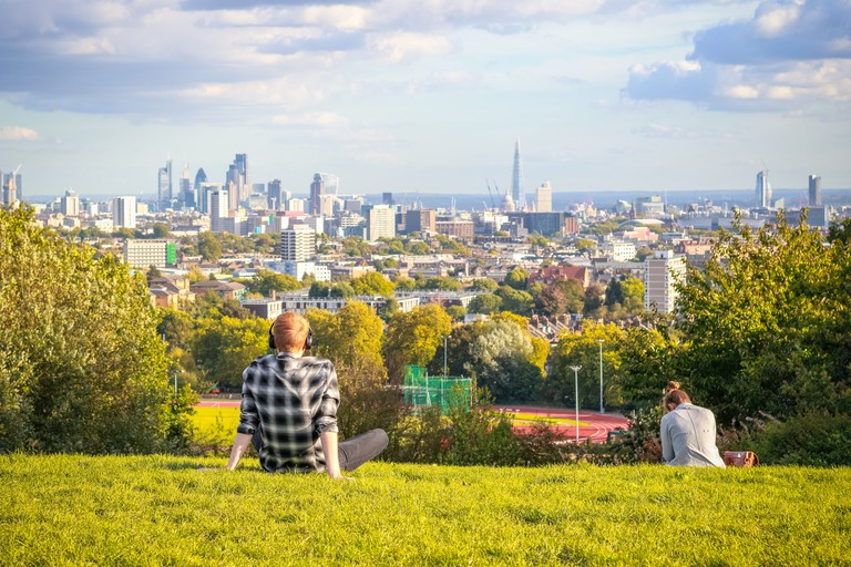 Hampstead Heath offers spectacular views over the city