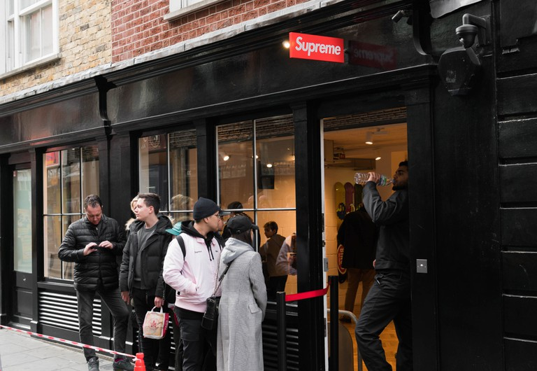 Supreme is a New York brand with a shop in London's Soho