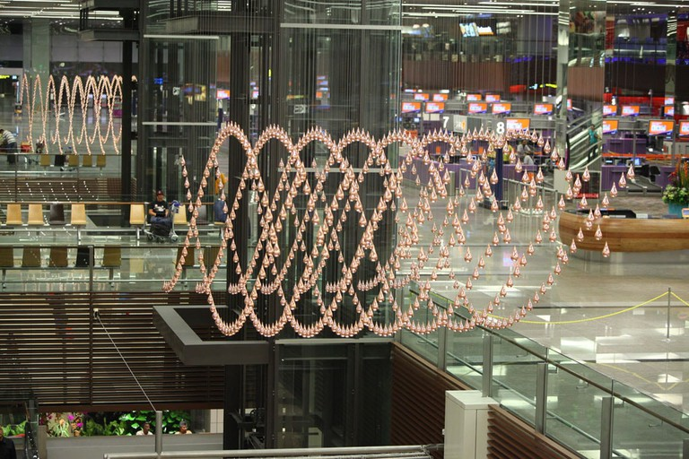 Singapore Changi Airport Terminal 1 Kinetic Rain