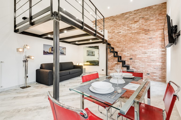 This compact but stylish Airbnb in Pigneto, Rome