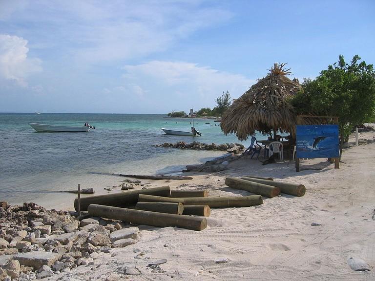 Beach on Utila