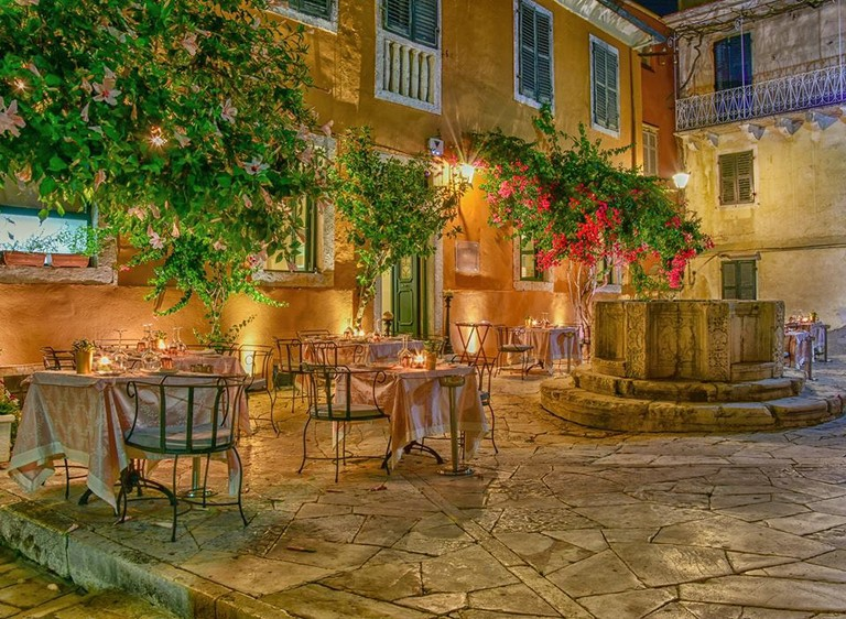 The Venetian Well restaurant, in Corfu