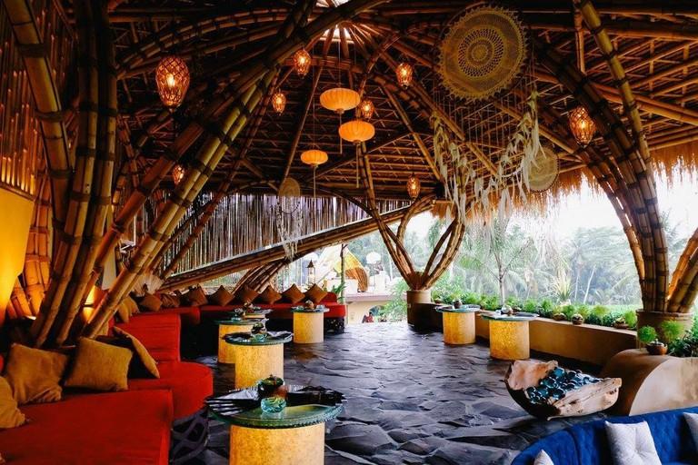 The dreamy Akasha Restaurant in Ubud, Bali.