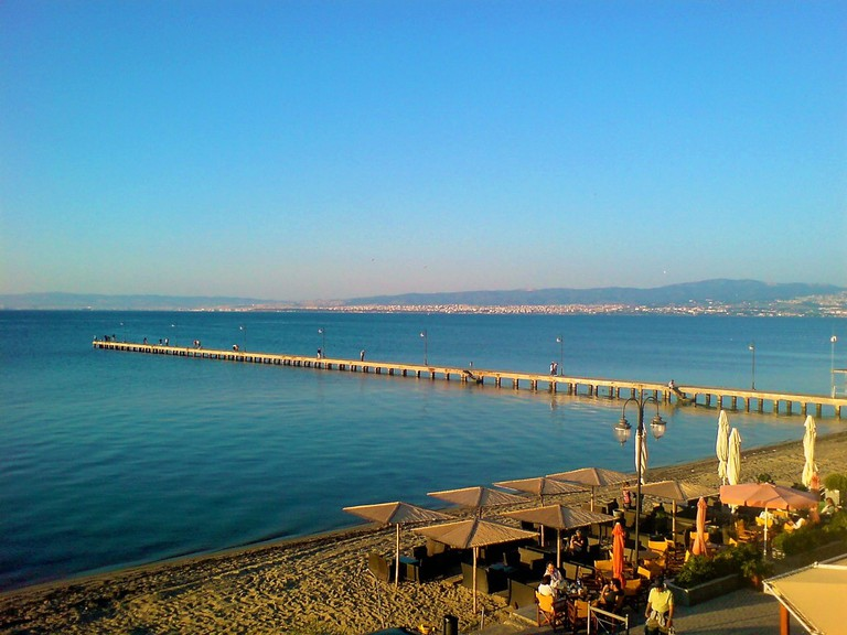 Peraia beach, a resort in Thessaloniki