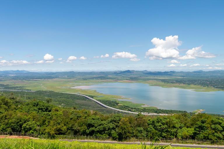 Landscape of Lam Takhong Dam, Thailand, Nakhon Ratchasima Province.