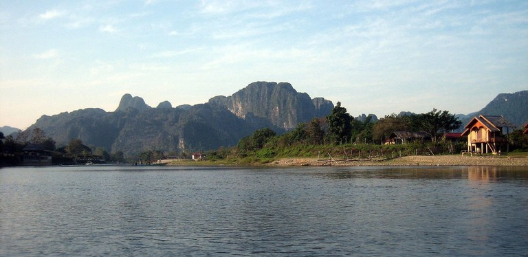 Nam Song river scenery