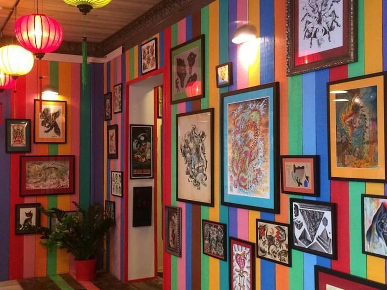 A corner of the work area in Invictus Tattoo, Courtesy of Invictus Tattoo