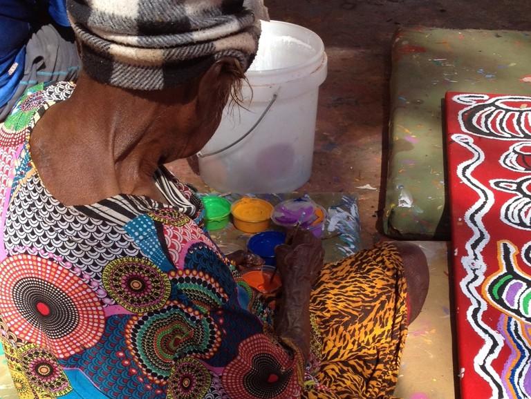 Artist Judy Watson at work © Aboriginal Contemporary