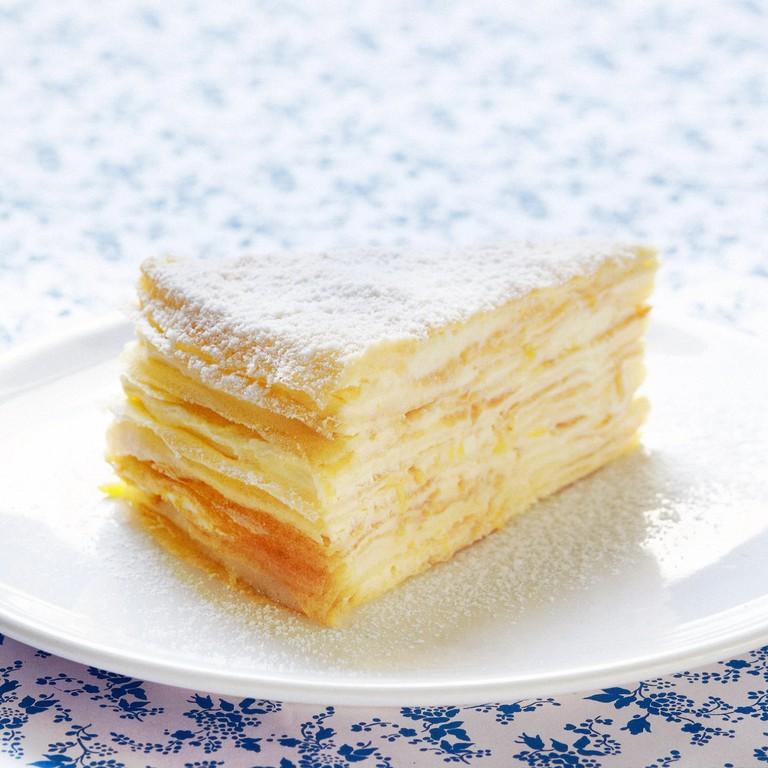 Big Bites Cafe mille crepe cake