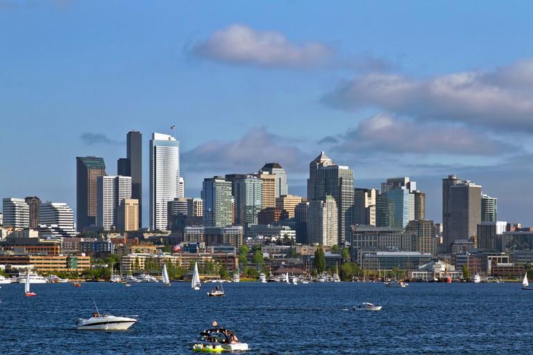 Seattle Washington Skyline on Lake Union