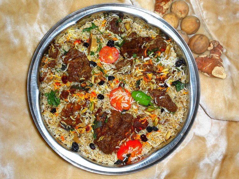 Bowl of biryani.