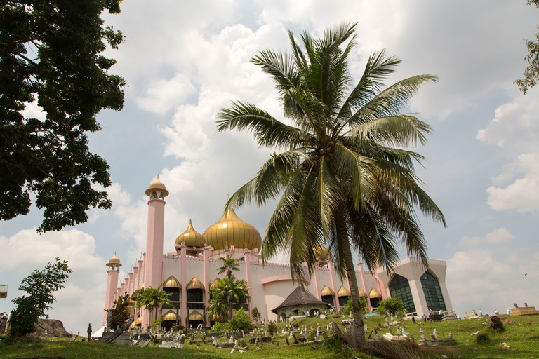 Kuching City Mosque view from behind, Sarawak, Borneo Malaysia