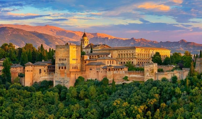 Alhambra Palace, Granada, Andalusia, Spain