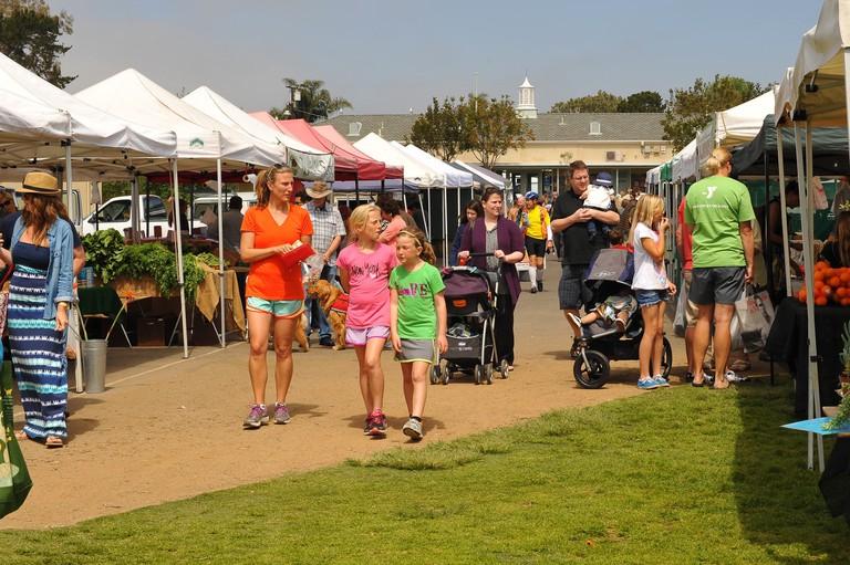 The Leucadia Farmers Market is held weekly at Paul Ecke Elementary School.
