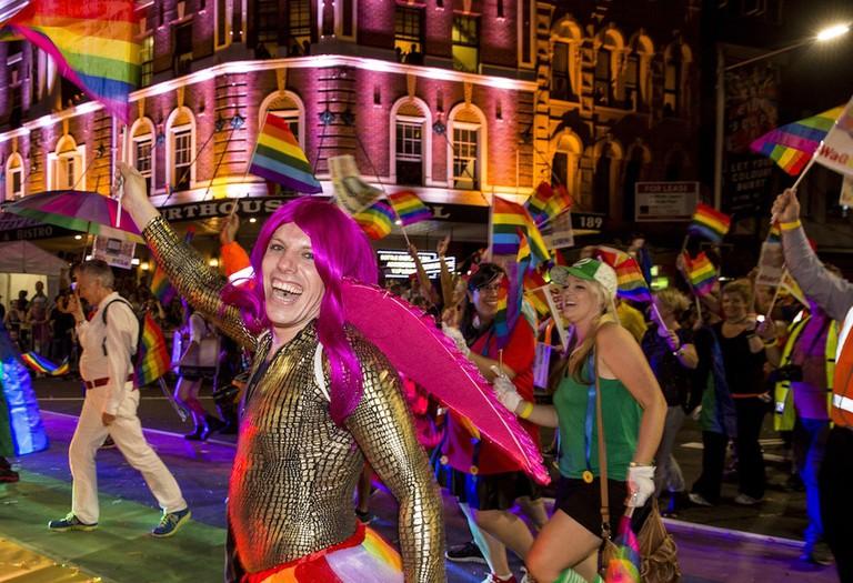Marchers in the Mardi Gras parade © Destination NSW
