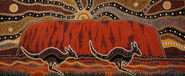 Painting of Uluru by Danny Eastwood © Karlangu Aboriginal Art Centre
