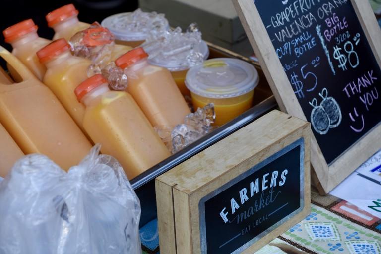 Fresh juice at the Poway Farmers Market.
