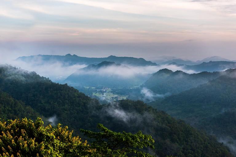 Foggy mountains Khao Yai National Park