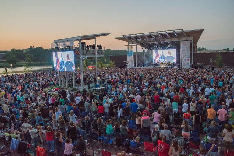 Open-air concerts are just one of the popular uses of RiverEdge Park